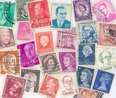 world leaders postage stamps scrapbooking by gracealleytreasures, $2.00