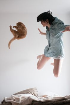 """Make all the faces you want, human, but I'm still jumping higher than you!"""
