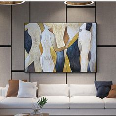 Abstract painting on canvas wall art pictures for living room dining room home d. Abstract painting on canvas wall art pictures for living room dining room home decor acrylic texture large quadro caudros decoracion Living Room Pictures, Wall Art Pictures, Abstract Pictures, Painting Pictures, Images D'art, Gold Art, Abstract Art, Abstract Paintings, Landscape Paintings