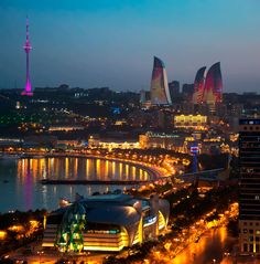 overlooking the waterfront, 'baku flame towers', comlpeted by HOK, is a mixed-use development which forms a prominent part of the city's expanding skyline. Azerbaijan Travel, Baku Azerbaijan, Fairmont Baku, Best Places To Travel, Places To Visit, Top Countries To Visit, Baku City, Federated States Of Micronesia, Largest Countries