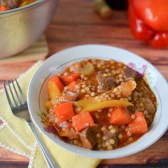 Italian Beef Stew with Israeli Couscous.