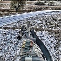 Out in the cold with the Remington 700! ❄️ Double tap if you like this badass!  • Follow me, @aboutcombat • #AboutCombat #Weapons #Gunsdaily