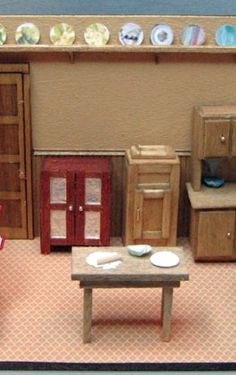 how to: 1/48th scale Victorian kitchen furniture