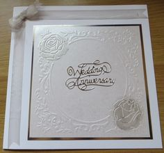 Anniversary card using centura pearl and gilding wax
