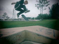 This is a pic of me flipping a tre (360 flip) at mclennan skatepark. skateboarding is one of the most enjoyable things that i do.