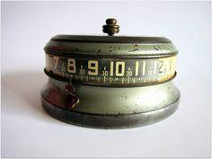 1935 Vintage Lux Mystery Rotary Clock / Tape Measure Clock 1930s RARE. via Etsy.