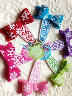 Snowflake Hair Snap Clip Designer printed Felt by PartywithFelt, $5.00