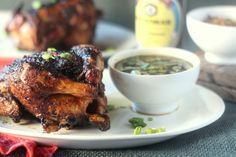 Five Spice Grilled Cornish Hens with Mongolian BBQ Sauce #juicygrilledcornish…