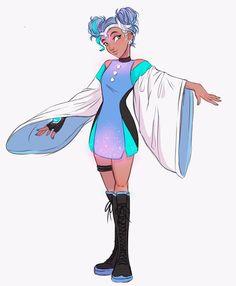 Art done by Martitara ( Cartoon Art Styles, Cartoon Drawings, Cute Drawings, Black Girl Art, Art Girl, Superhero Design, Female Superhero, Cute Girl Drawing, O Pokemon