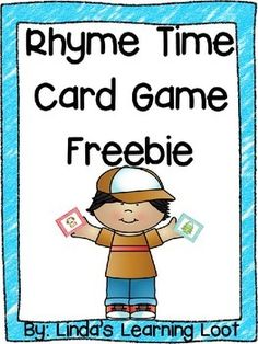 This FREEBIE resource is a simple card game that uses picture rhyming cards.Great resource for a small group phonemic awareness game.