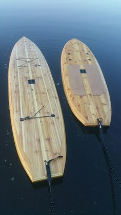 His & Hers Tucker Surf Supply's Hollow Wood Surfboard/SUP Kits. www.woodsurfboardsupply.com