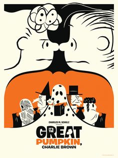 Inspired by Reid Miles? Never the less, I love this poster! So much going on but gets the message across with no confusion. Negative space forming ghosts and faces and the complimentary positive space forming a pumpkin. Awesome!