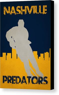 Predators Canvas Print featuring the photograph Nashville Predators by Joe Hamilton