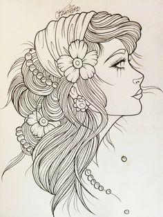 Pretty lady to color