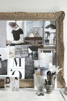 create your own antique framed mood board
