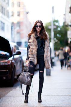 ストリートスナップニューヨーク - Laura leshelさん   Fashionsnap.com