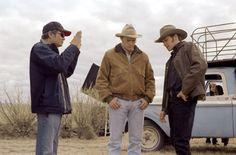 Ang Lee, Heath Ledger and Jake Gyllenhaal in Brokeback Mountain (2005)