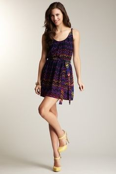 Jaloux Print Scoop Neck Dress