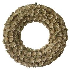 """Target Mobile Site - Smith & Hawken® Cream Curved Wood Wreath; 21.25"""" $39.99"""