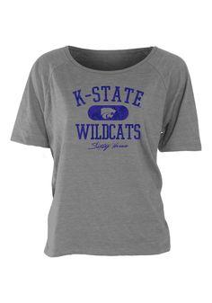 Kansas State (K-State) Wildcats T-Shirt - Grey Wildcats Hi-Low Short Sleeve Tee http://www.rallyhouse.com/shop/kstate-wildcats-5702594 $29.99