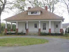 hip roof farmhouse | OldHouses.com - 1916 Bungalow - Sidney & Ethel Grier House in ...