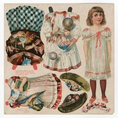 75.2202: Edna   paper doll   Paper Dolls   Dolls   National Museum of Play Online Collections   The Strong