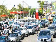 Fuel scarcity long queue