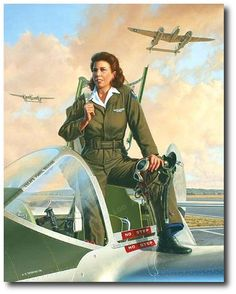 AVIATION ART HANGAR - Lightning Lady by Stan Vosburg (P-38 - WASP). Click image for excellent story behind this painting!