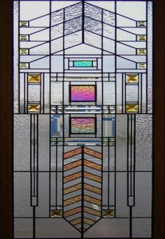 Stained Glass  ~  Frank Lloyd Wright (88 pieces)