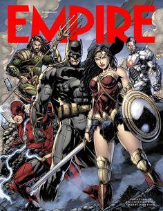 Liga da Justiça | Sem Superman, heróis estampam capa da revista Empire; confira | Notícia | Omelete
