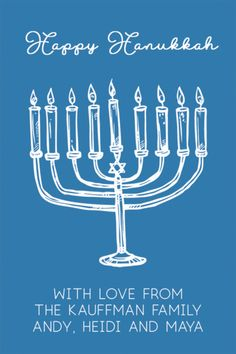 Personalized Sketched Menorah Gift Stickers