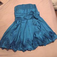 Selling this Plus Size Blue Formal Dress in my Poshmark closet! My username is: annacscott1. #shopmycloset #poshmark #fashion #shopping #style #forsale #Deb #Dresses