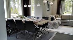 Asuntomessut 2016, Omatalo Armas, ruokailutila ja olohuone ovat yhteinäistä tilaa.