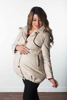 """OOTD: Cold? NOT ANYMORE!, mama! Be a part of your winter wonderland. Let your maternity coat hunt stop here. The """"Snowbound Puffer Coat"""" has plenty of room for your growing bump, all the way through month nine.   #maternitywintercoat #supercutematernitycoat #sexymamamaternity #preggo"""