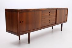Rosewood Credenza by Henry W. Klein for Bramin Møbler - Scandinavian Modern | From a unique collection of antique and modern credenzas at https://www.1stdibs.com/furniture/storage-case-pieces/credenzas/