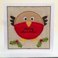 Merry Christmas Robin - Handmade Card £5.00