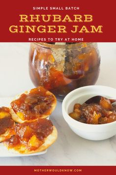 Even if you've never made jam before, this one is for you! It's a breeze to put together. It's rhubarb season, so get some now and enjoy it for weeks. You'll enjoy it at home or bring it to a pot luck or picnic. It makes a wonderful Mother's Day or host gift too. Rhubarb Recipes, Jam Recipes, Vegan Gluten Free, Vegan Vegetarian, Rhubarb Ginger Jam, Pot Luck, Cheese Cloth, Original Recipe, The Dish