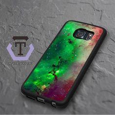 Red Green Galaxy Nebula Samsung Galaxy S6 Edge Plus Black Case