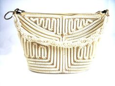 vintage white telephone cord purse