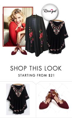 """""""Floral"""" by minka-989 ❤ liked on Polyvore featuring rosegal"""