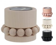 Prinsessa Tealight Candle Holder - Natural - Aarikka - w/Candle - Hand painted and made in Finland. Holds one tealight candle. Helsinki, Tea Light Candles, Tea Lights, Tealight Candle Holders, Wooden Beads, Wood And Metal, Scandinavian Design, Dog Bowls, Designer
