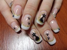 beautiful nail for you cat lovers
