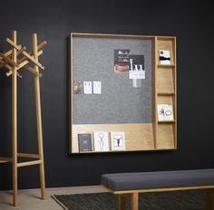 Display til magasiner kombineret med opslagstavle. Slope fra Karl Andersson og Söner