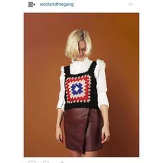 Me 4 @woolandthegang wearing the crochet tank - on their site now. Pick up yer needles  @brookeharwood by pandorasykes