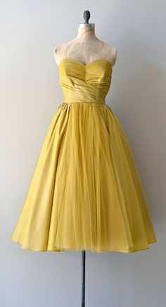 1950s dress / vintage 50s dress / Beaux Meaux party by DearGolden, $325.00