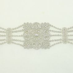 Silver Embroidery Metallic Venise Trim for Women girls by annielov, $5.00