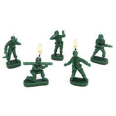 ThinkGeek :: Army Men Candles