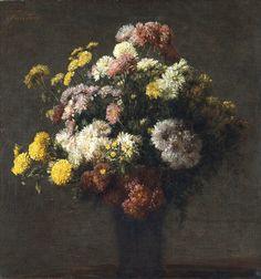Henri Fantin-Latour  Vase with Chrysanthemums  19th century