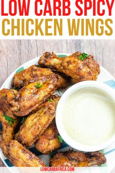 These low carb spicy chicken wings made with ghost pepper are so deliciously fiery and spicy, you will definitely feel the burn! These spicy chicken wings will warm you right up! Protein packed spicy chicken wings are a great finger food for any occasion. #spicy #chickenwings #proteinpackedrecipes #healthyrecipes