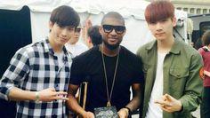 VIXX meet Usher and give him an autographed CD | http://www.allkpop.com/article/2015/04/vixx-meet-usher-and-give-him-an-autographed-cd